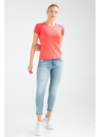 Speedlife Grain Kadın Tişört Fuşya